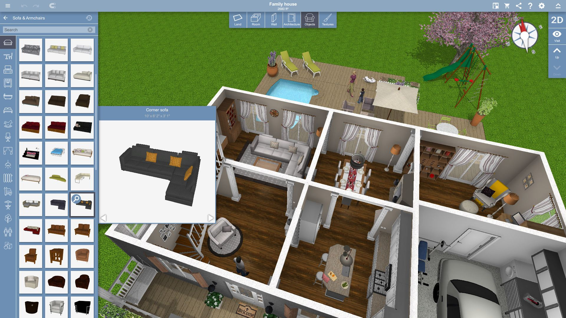 Home Design 3d On Steam In 2020 House Decorating Games House