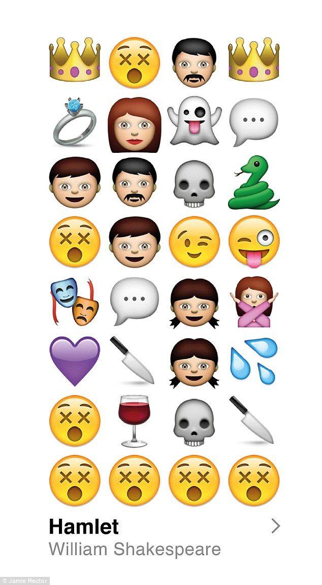 To Emoji Or Not To Emoji Designer Translates Hamlet Plot With Smileys Shakespeare Hamlet Emoji Stories