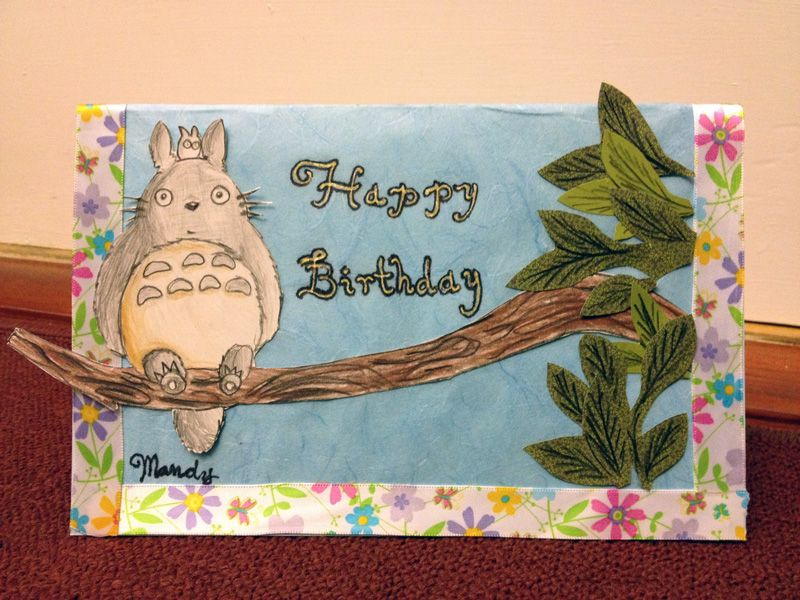 Totoro Birthday Card My Birthday Pinterest – Totoro Birthday Card