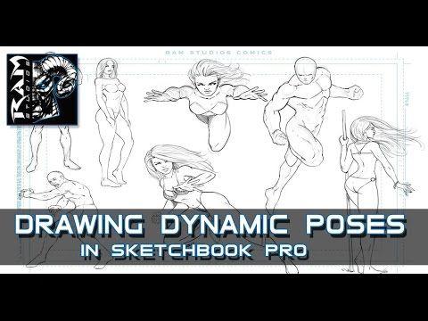 Drawing Dynamic Comic Book Poses Sketchbook Pro 7 Narrated Sketch Book Comic Drawing Sketchbook Pro