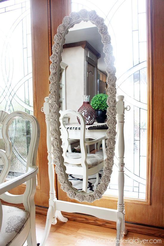 DIY Rosettes : DIY Rosette-Framed Mirror (With images ...