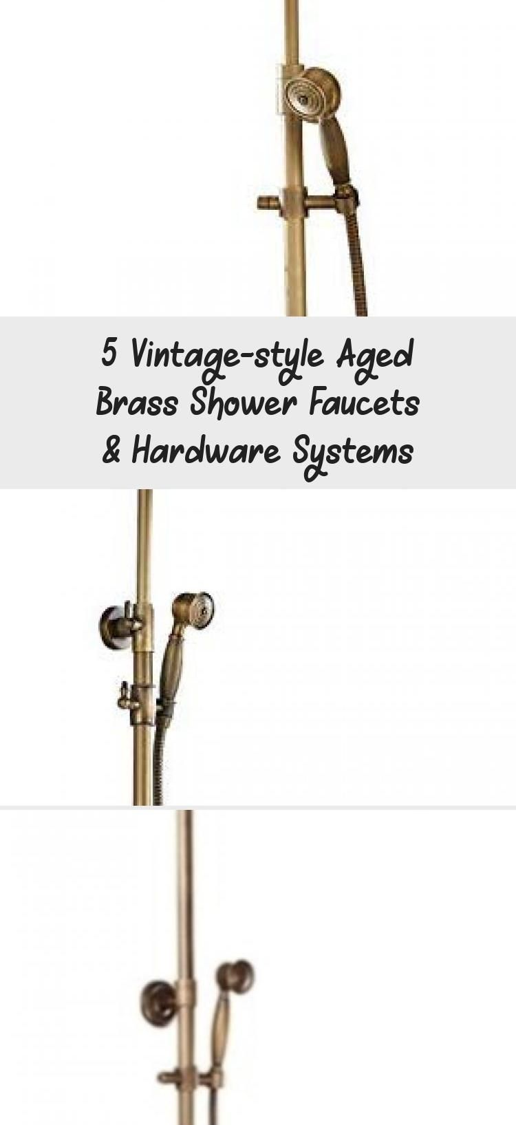 Photo of 5 vintage style shower fittings and fittings made of brass – gala fashion, street style, out …