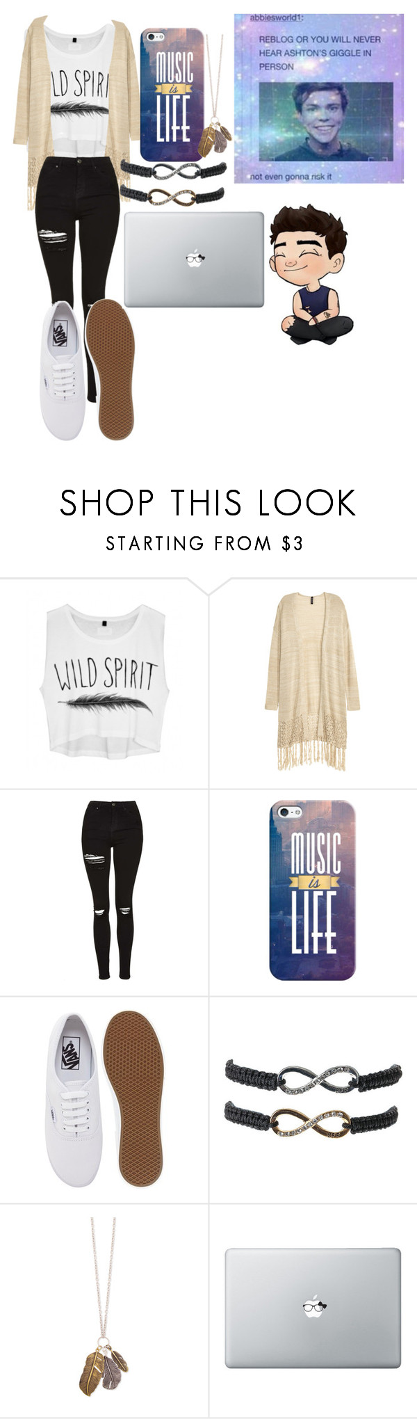 """""""18"""" by chichipie ❤ liked on Polyvore featuring beauty, Topshop, Casetify and Vans"""