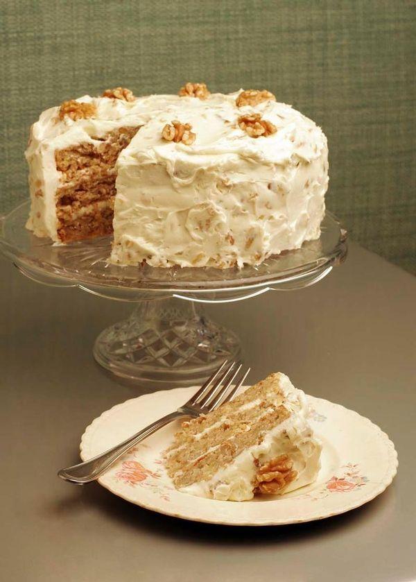 Walnut Hummingbird Cake, created by Chef Scott Peacock