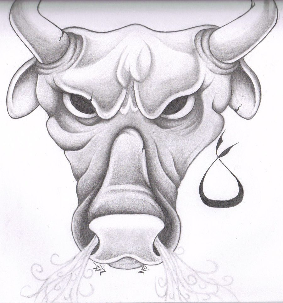 Pics photos taurus tattoos bull tattoo art - Taurus Drawings Taurus Tattoo By Glax34