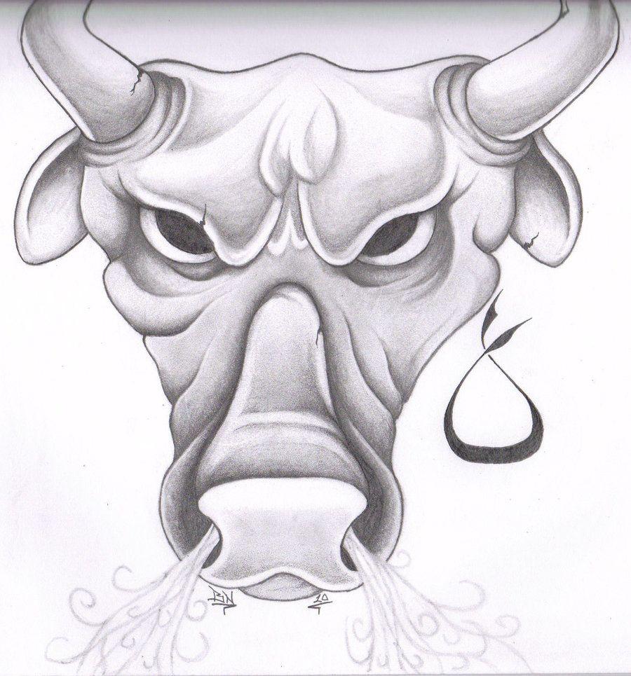 Pics photos taurus tattoos bull tattoo art - Taurus Drawings Taurus Tattoo By Glax34 Taurus Tattoosbull