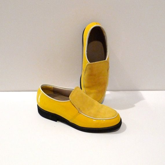 Hush Puppies Shoes Yellow Patent Leather And By Plattermatter 36 00 Hush Puppies Shoes Classic Trendy Classic Shoes