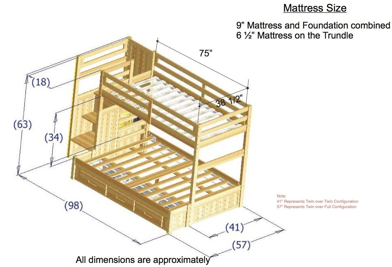 Twin loft bed dimensions  discoveryworldfurnituretwinovertwinhoneymissionstaircase