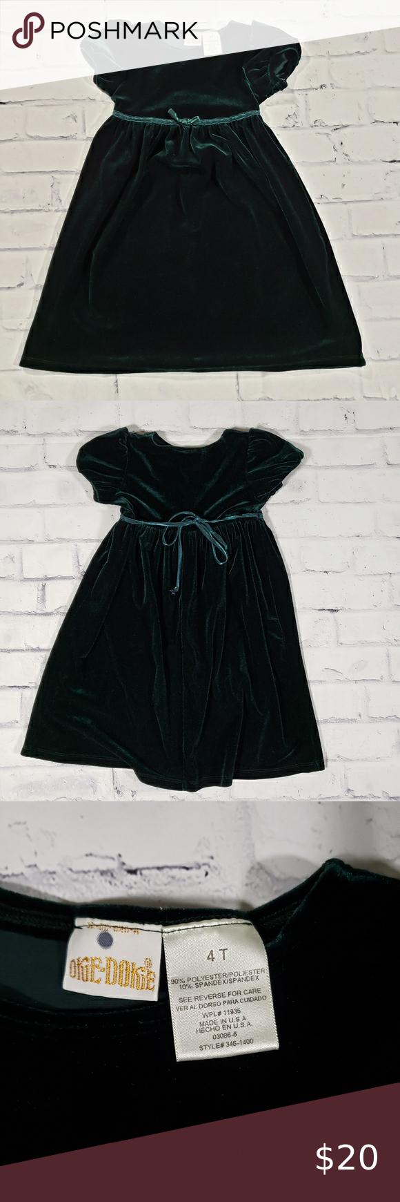 Dark Green Velvet Like Christmas Dress 4t 4t Dress Black Dress With Pockets Christmas Dress [ 1740 x 580 Pixel ]
