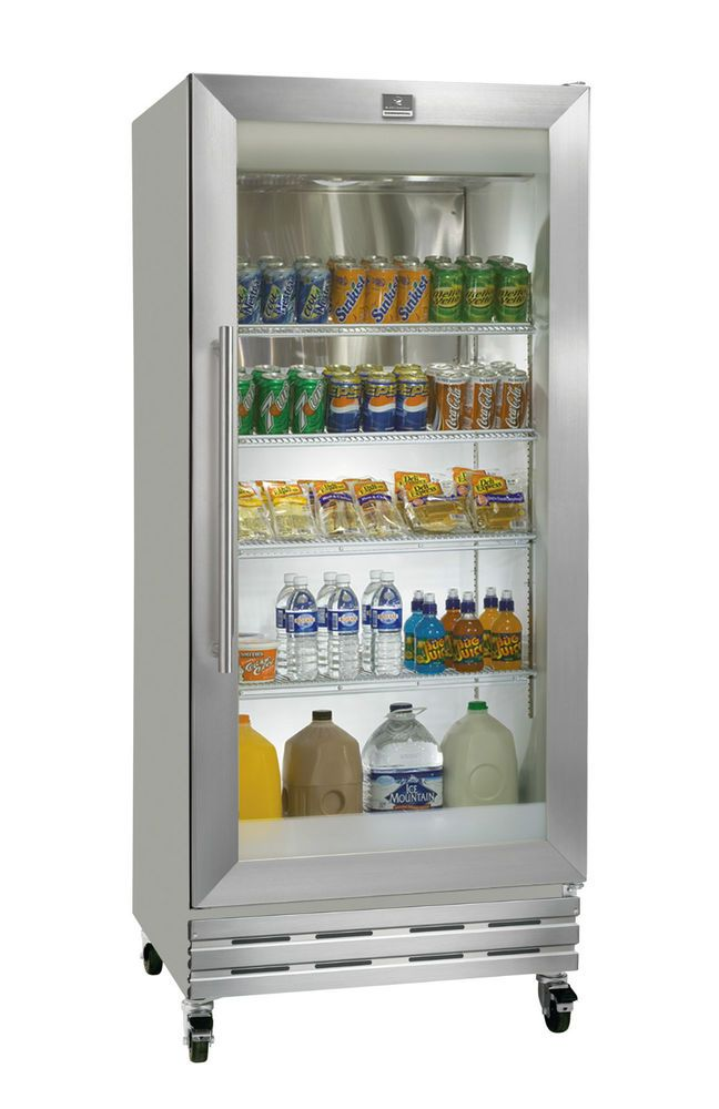 18cf Kelvinator Single Glass Door Refrigerator Cooler Merchandiser Kcbm180rqy Glass Door Refrigerator Glass Door Fridge Glass Front Refrigerator