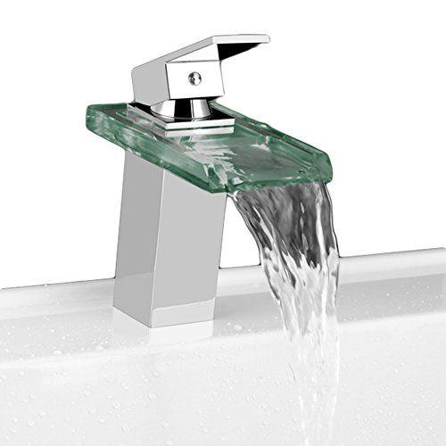 Wawoo® LED RGB Licht Wasserhahn Wasserfall Waschtischarmatur - wasserhahn für die küche