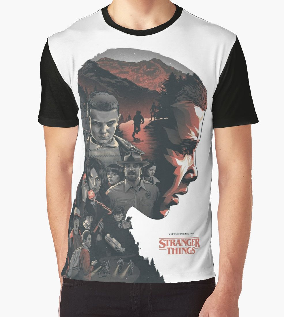 92e5135bb7d4 For sale: double exposure Stranger Things T-shirt #t-shirt #merchandise # eleven [affiliate-link]