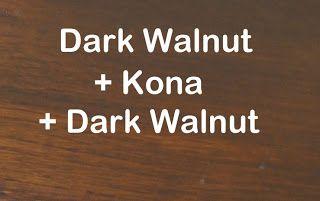Varathane Dark Walnut And Kona Layered On Oak