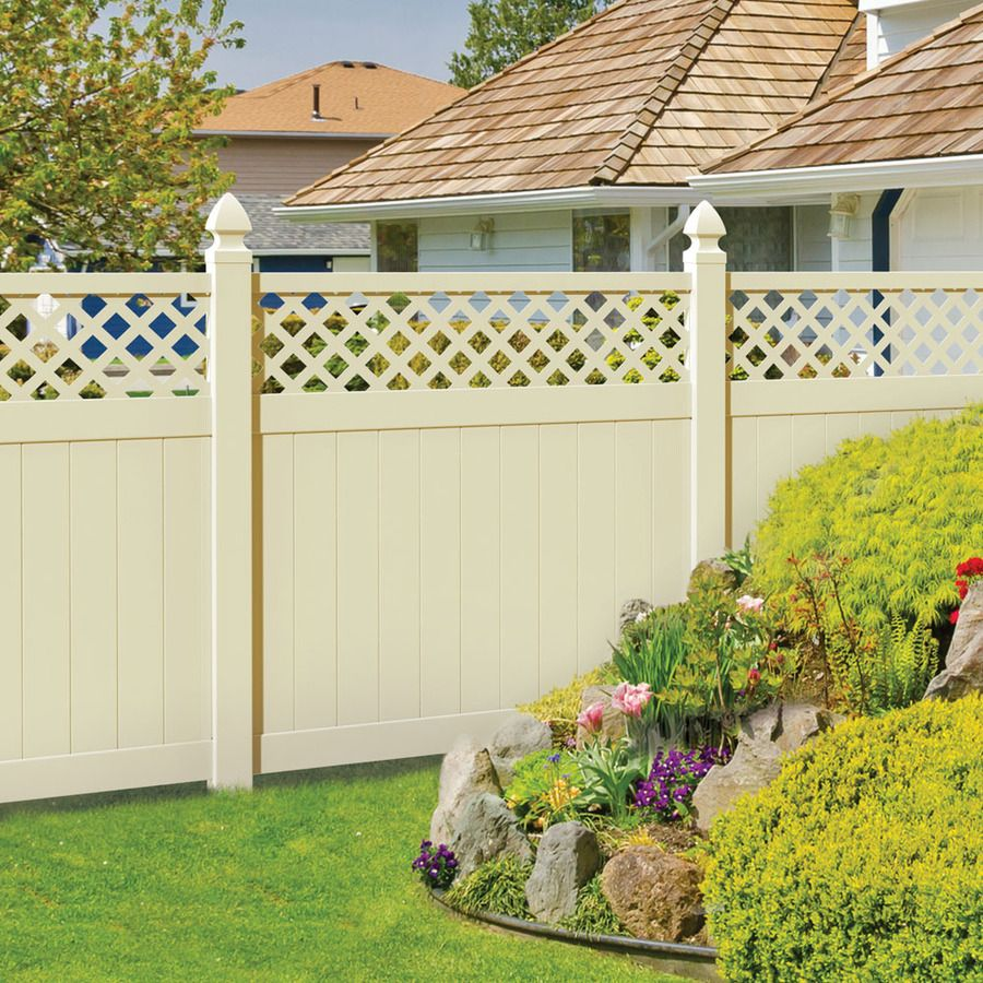 vinyl fence panels lowes. Sand Vinyl Fence Panel Kit (Actual Size: 70 In. X 67 In.) - 73014381 The Home Depot Panels Lowes E