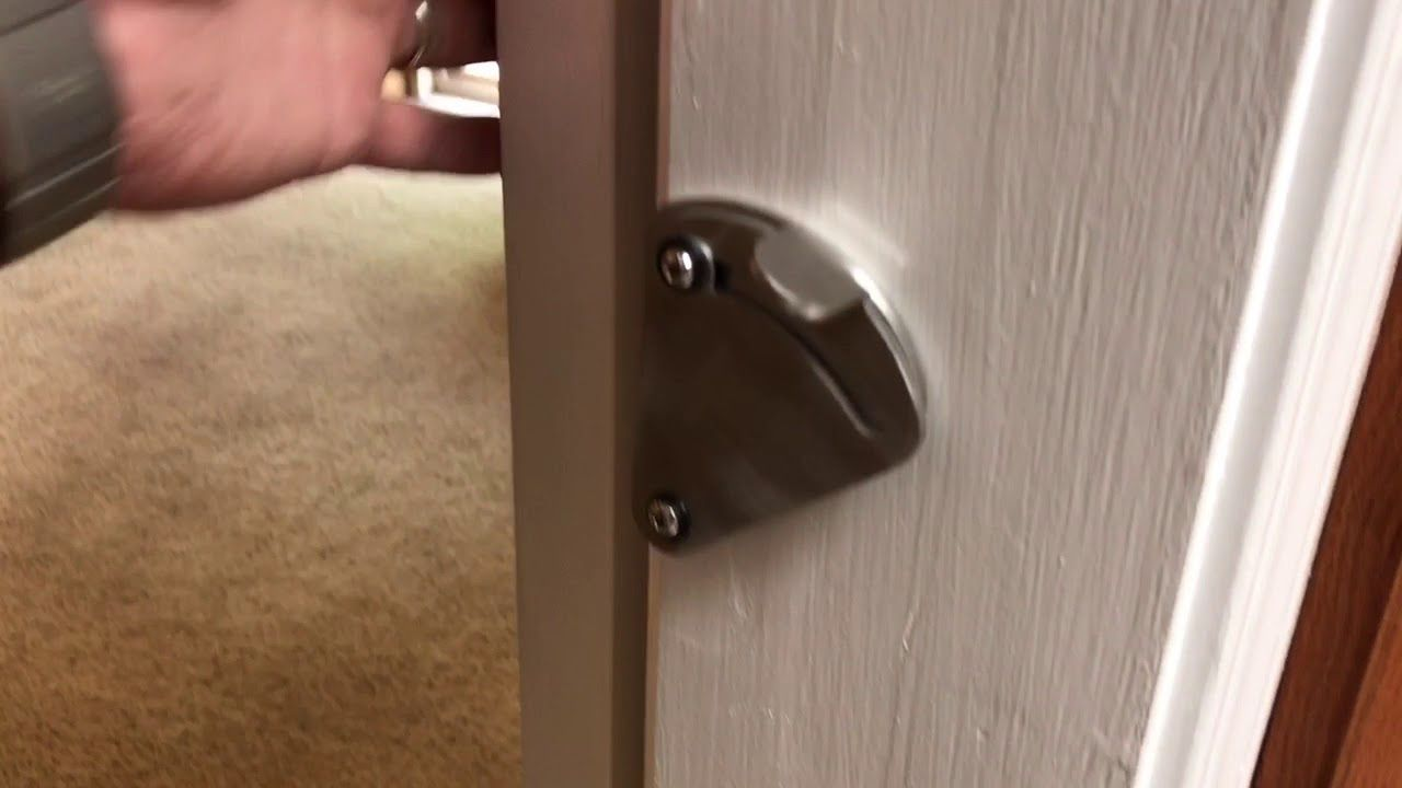 Sliding Barn Door Stainless Steel Latch/Lock YouTube in