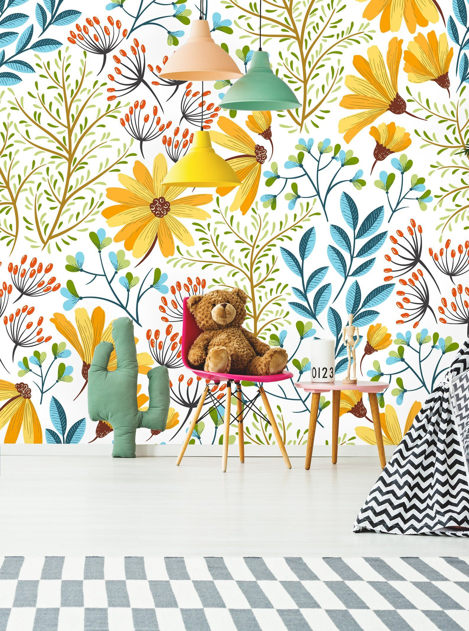Removable Wallpaper Self Adhesive Wallpaper Boho Spring