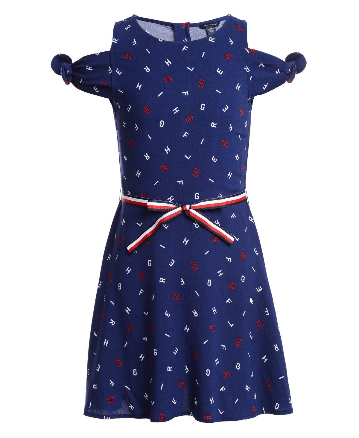 Tommy Hilfiger Girls Dot-Print Dress