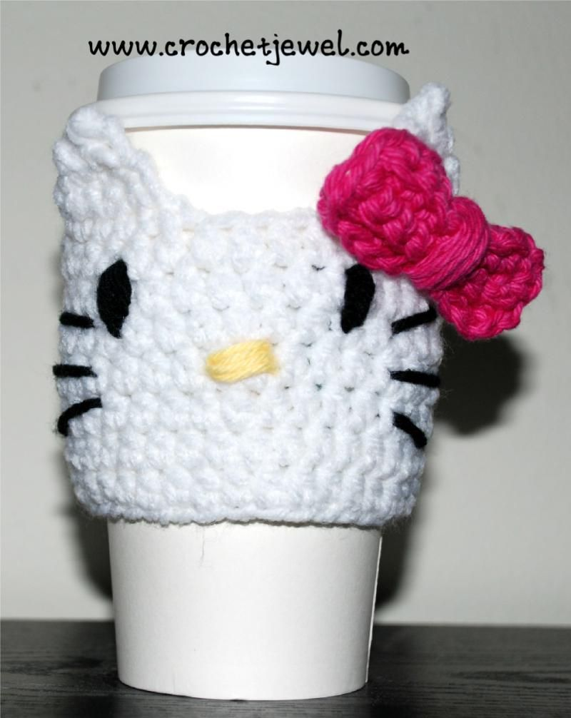 Crochet Cup Cozy for my sister Tabby | Cup cozy crochet | Pinterest
