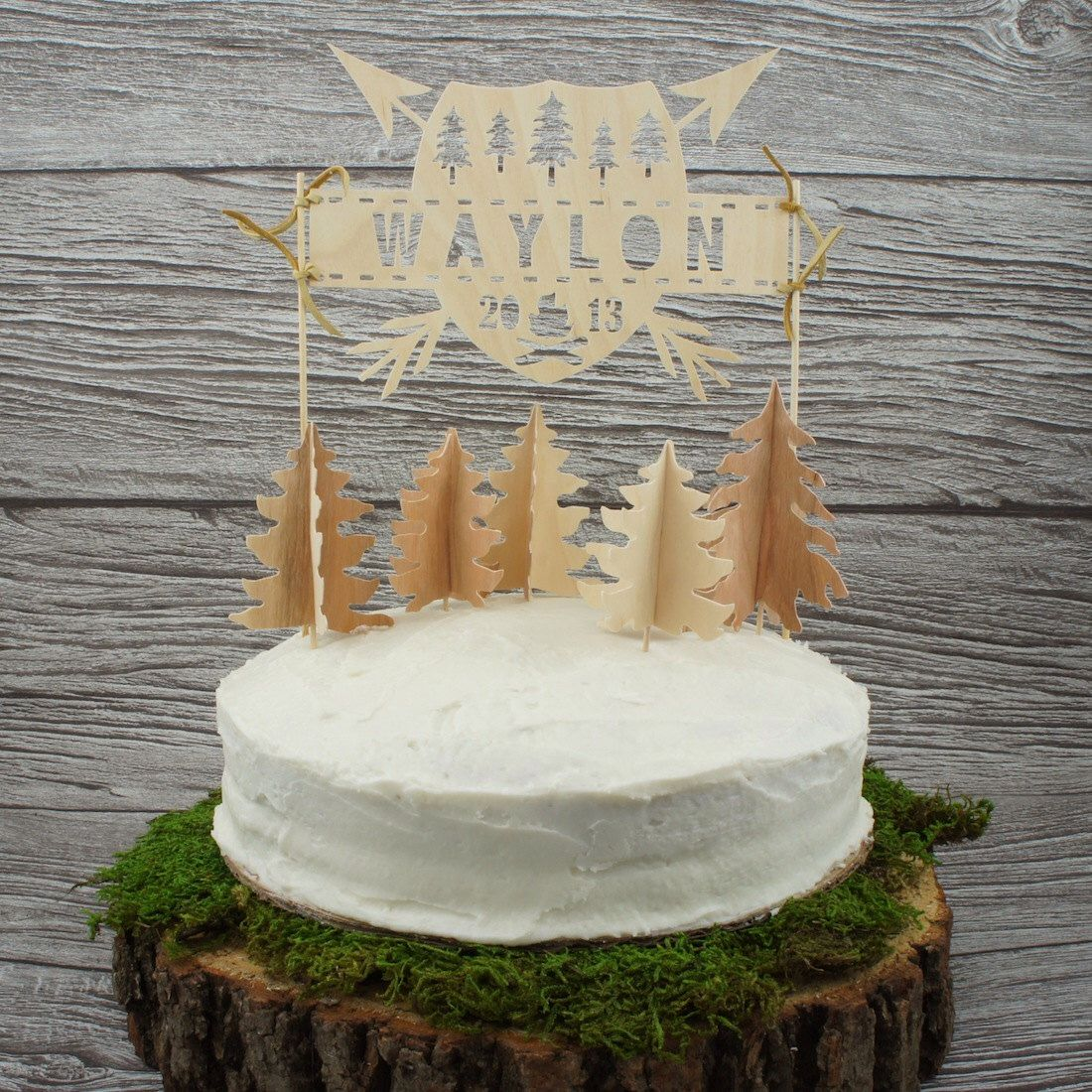 Personalized Wilderness Cake Topper by WonderfulCollective on Etsy https://www.etsy.com/listing/164842551/personalized-wilderness-cake-topper