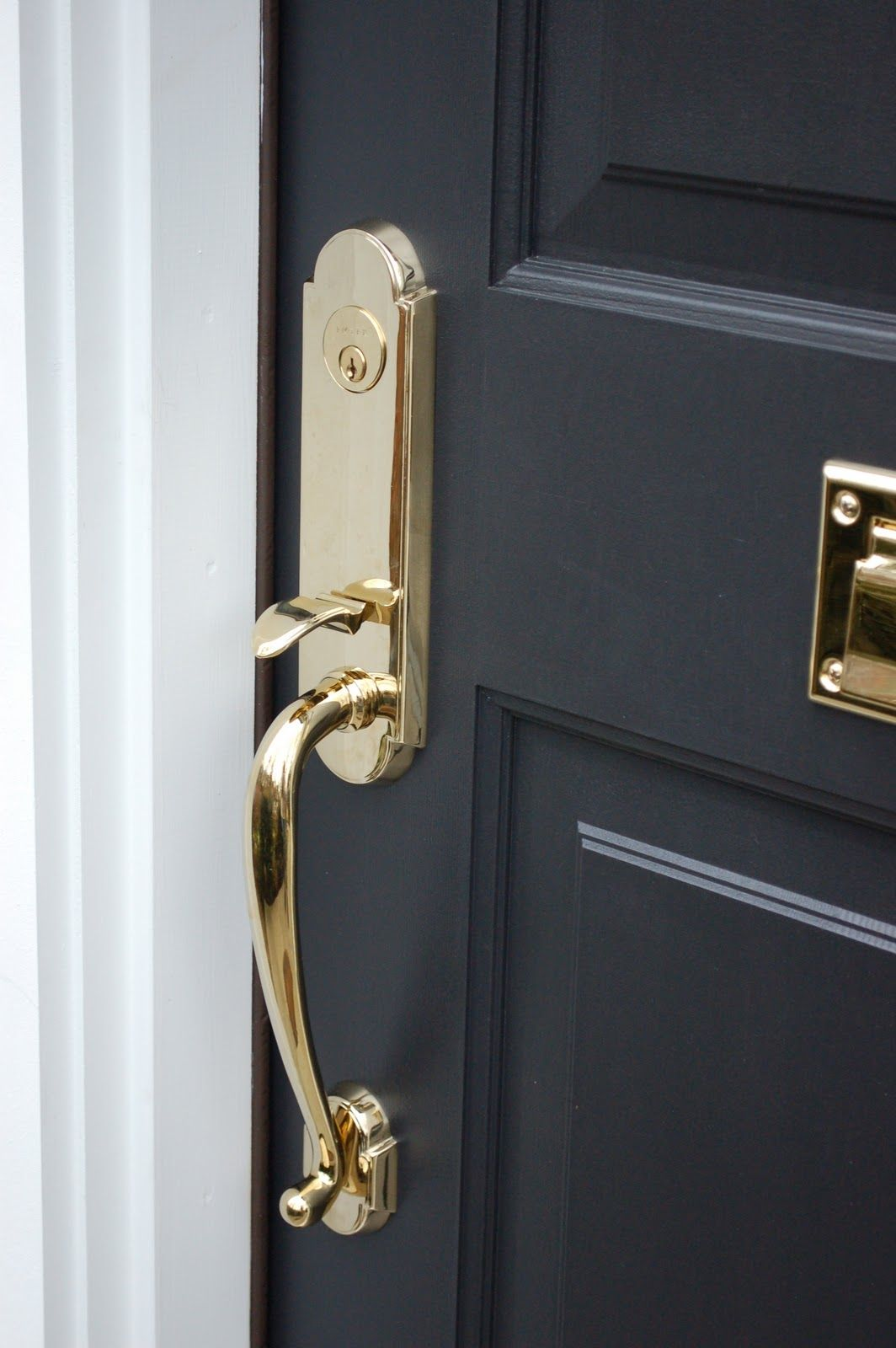 Pin By Paintzen On What S Your Paint Personality Painted Front Doors Black Paint Color Front Door Hardware