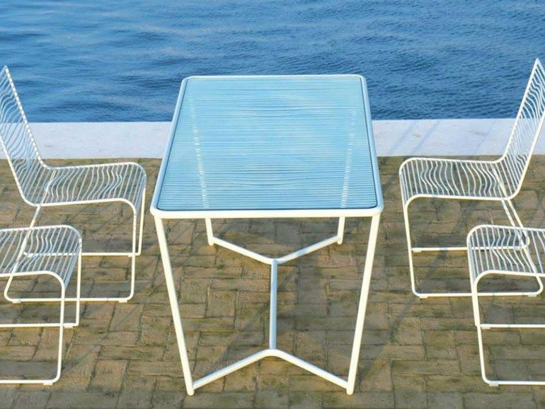 Sedie Ciacci ~ Rectangular garden table grid collection by ciacci group design