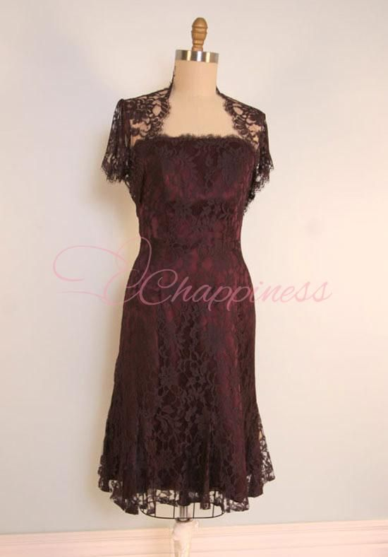 Becky This Would Be Pretty On Mom A Line Strapless Knee Length French Chantilly Lace Mother Of The Bride Dress Style