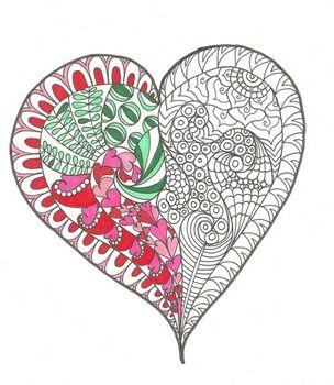 Substitute Teacher Bag Of Tricks Mega Coloring Sheet Bundle Heart Coloring Pages Valentine Coloring Pages Coloring Book Art