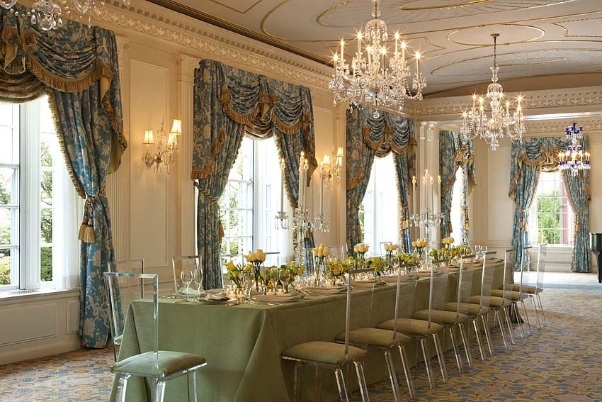 taj boston hotel wedding love the plexi chairs gorgeous apple green colors - Beaded Inset Hotel Decoration