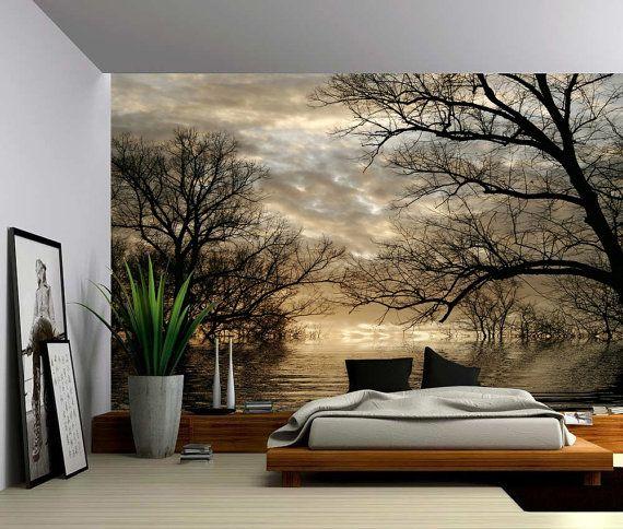 Herbst Baum Wald See Grosse Wandbild Selbstklebende Vinyl Tapeten Wandverkleidung Stoff Wandtattoo Tapeten Wandbild Wand Und Wandgemalde Ideen