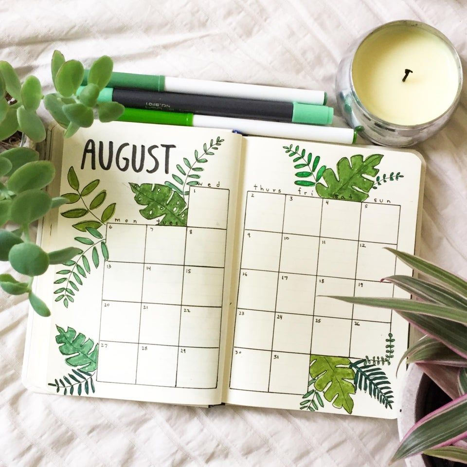 20 Beautiful August Bullet Journal Covers Ideas #augustbulletjournal