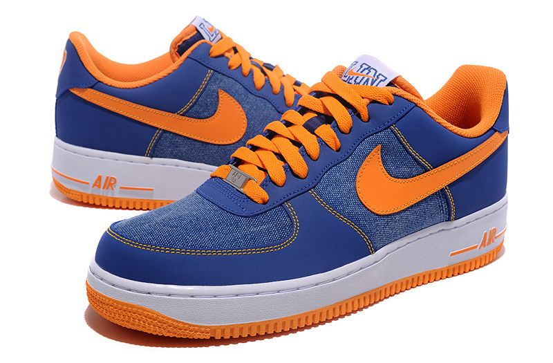 nike air force 1 blue and orange
