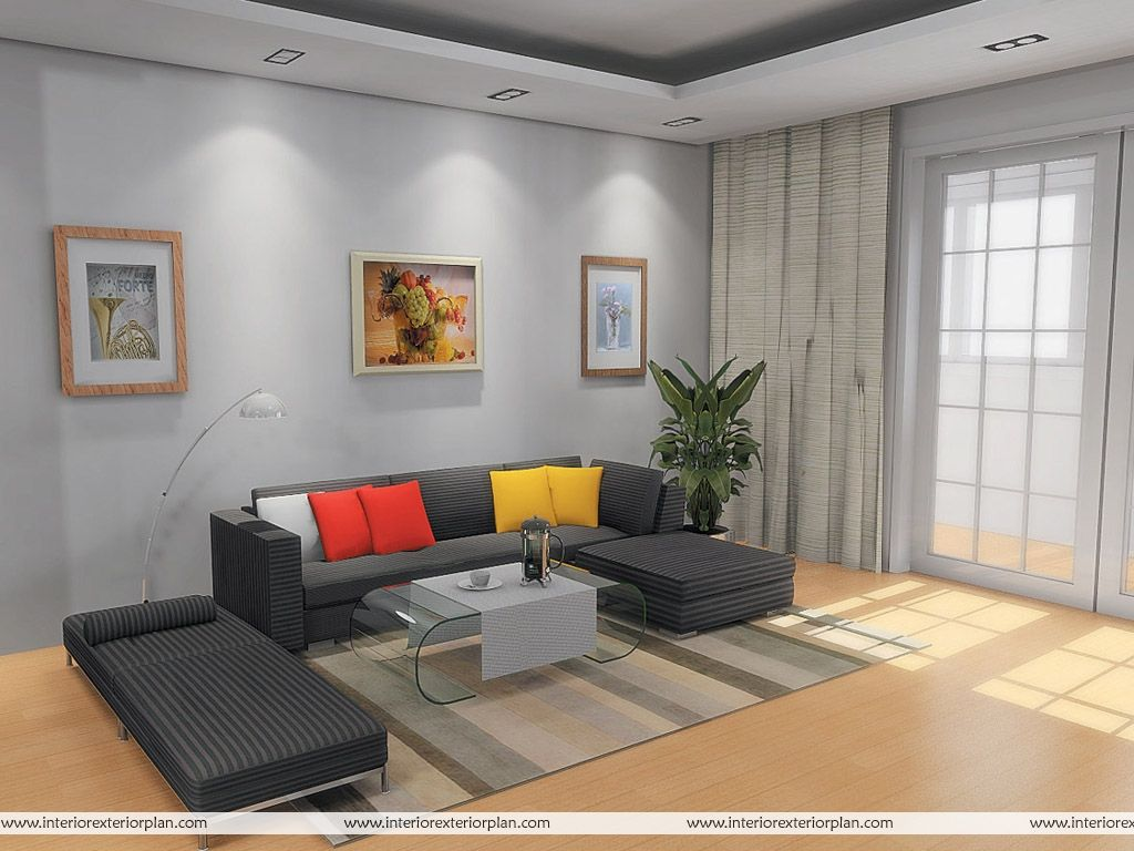In this photograph on the subject of simple living room interior
