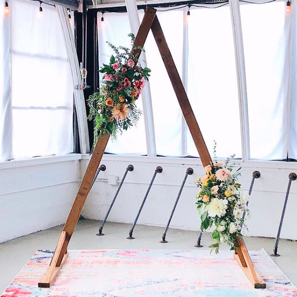 Rustic Wedding Arbors: Triangle Wedding Arbor Triangle Wedding Arbor #Arbor