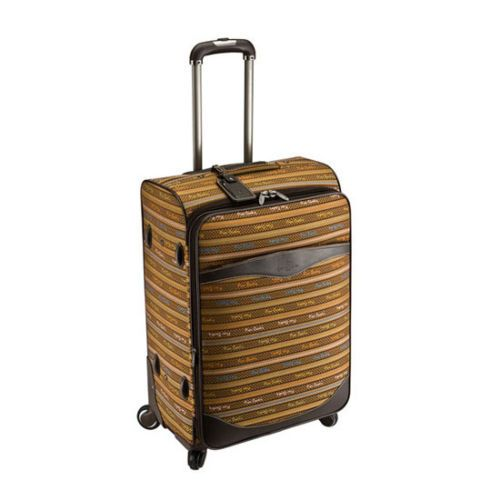 Genuine Pierre Cardin Carnival Luggage Expend Carry-On Travel Bag/ 24 inch Brown
