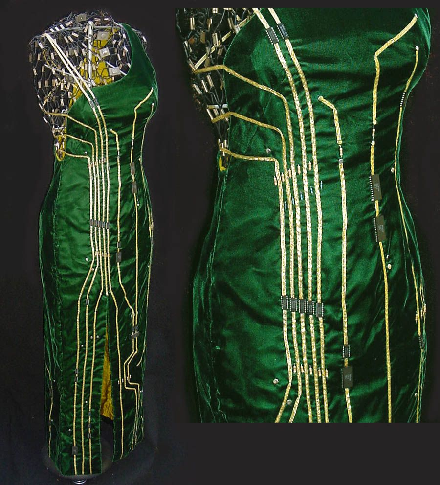 Circuit Board Dress By Emstone On Deviantart Recycle Recycled Notebook