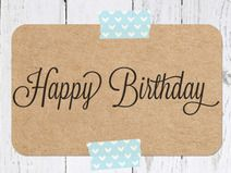 Stempel  - Happy Birthday