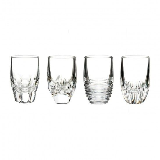 Set of 4 024258514157 Clear Waterford Mixology Shot Glasses