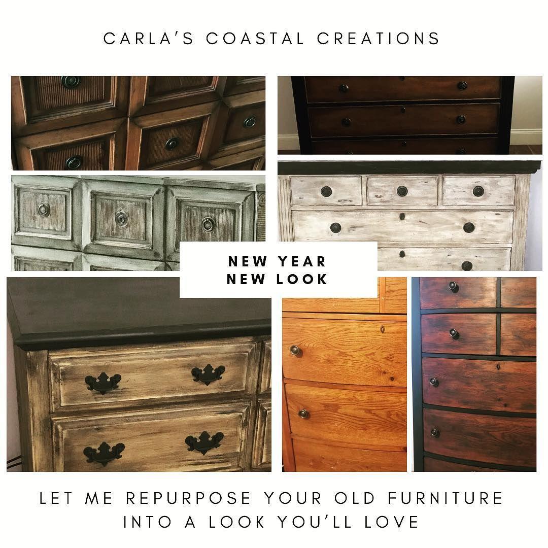 Carlascoastalcreations.com #paintedfurniture #anniesloanchalkpaint #chalkpaint #repurposedfurniture