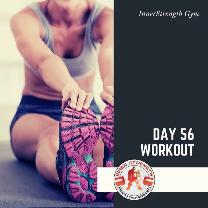 #day56  Warmup Stretches Plank 1 minute Leg raise 20 Crunches 20  Workout 3 sets of the following Du...
