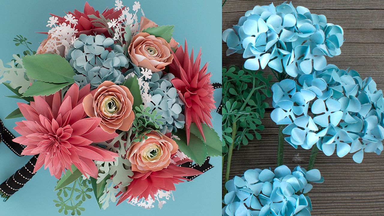 How To Make A Paper Flower Bouquet Hydrangea Flower Fakes
