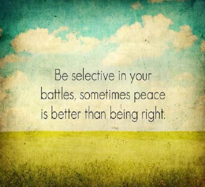 To Everyone Not Just Myself My Friends And Family You: Pick Your Battles! You Don't Always Have To Make Every