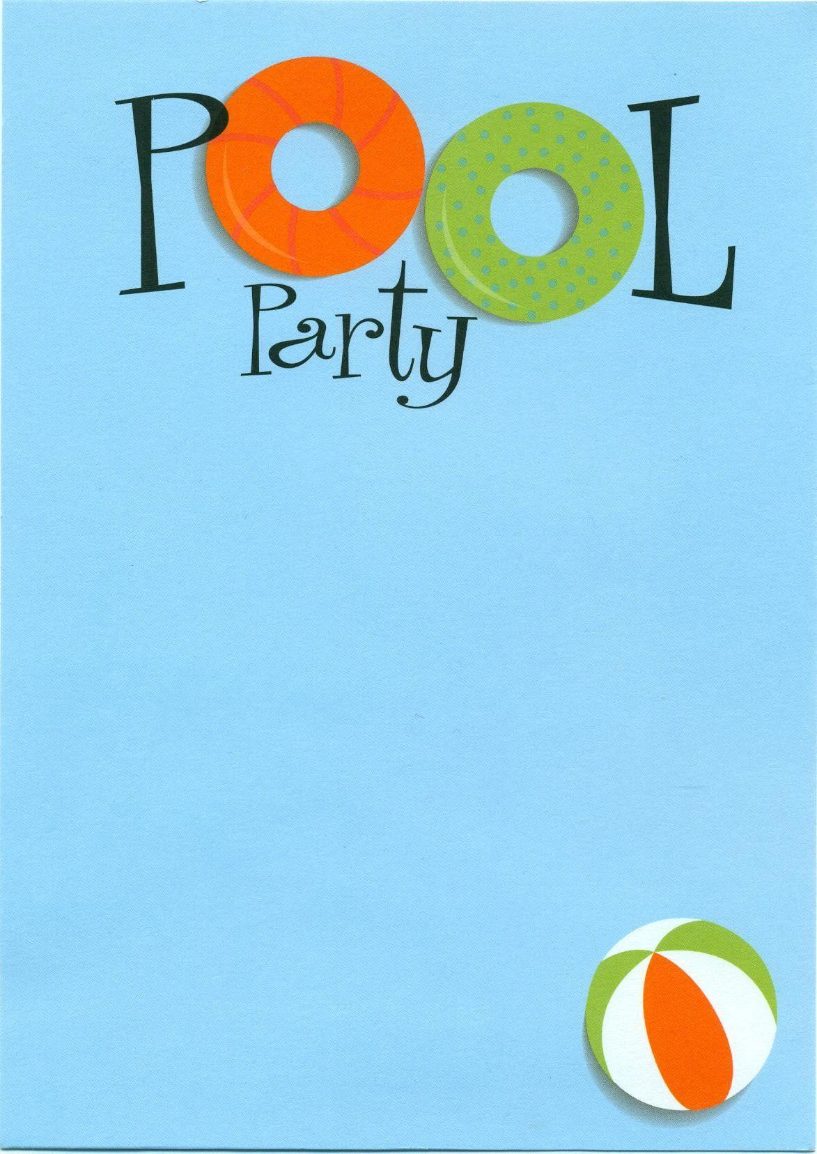 pool party invite IDEAS CUMPLEA OS Pinterest – Summer Party Invitation Templates Free