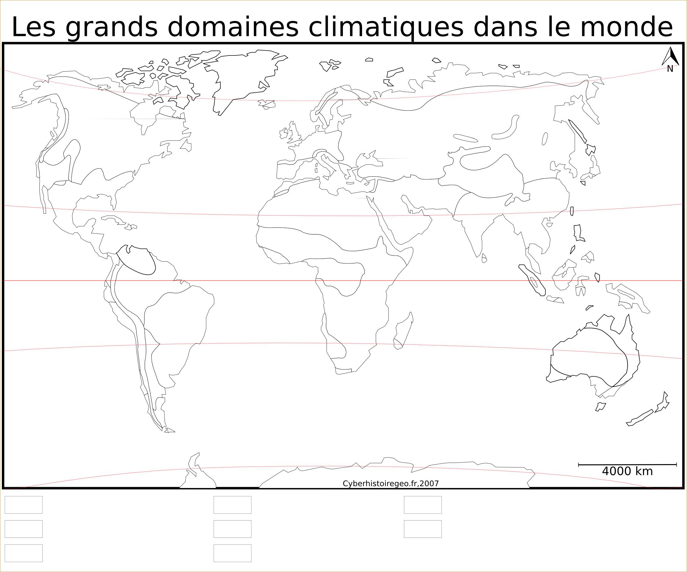 Fond De Carte Les Grands Domaines Climatiques Dans Le Monde