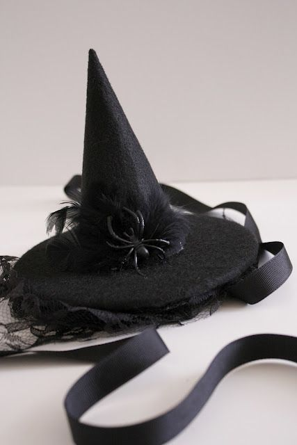 Diy Witch Hat Lette This Turned Out Really Cute I Couldn T Find The Stiff Felt So I Used Regular And It Sti Halloween Hats Witch Hat Diy Elegant Halloween