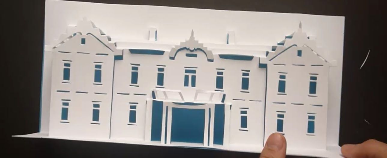 Pop Up Hotel Card Tutorial Origamic Architecture Hotel Card Card Tutorial Card Tutorials