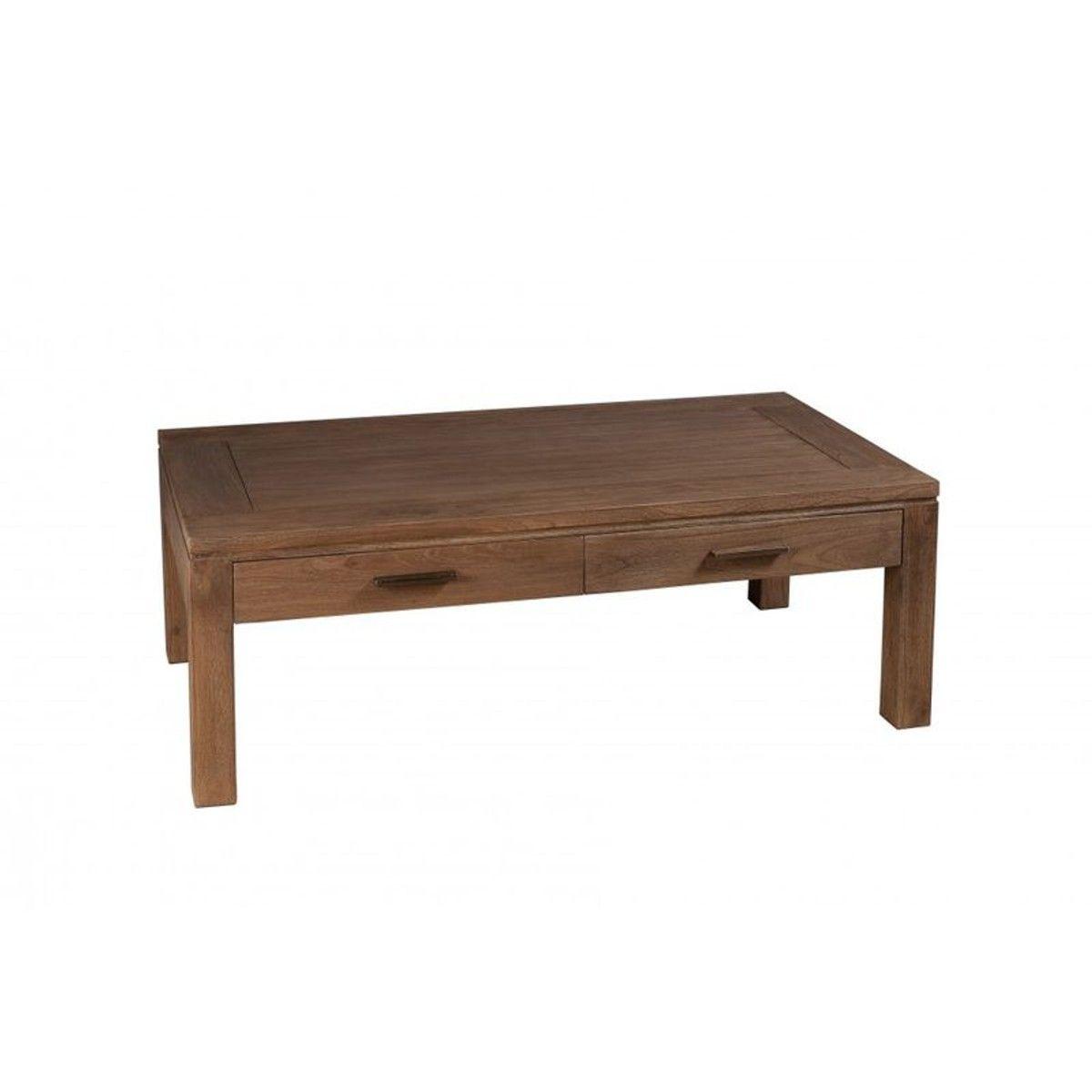 Table Basse Bois Exotique Cannelle 110cm Louna - Taille : TU ...