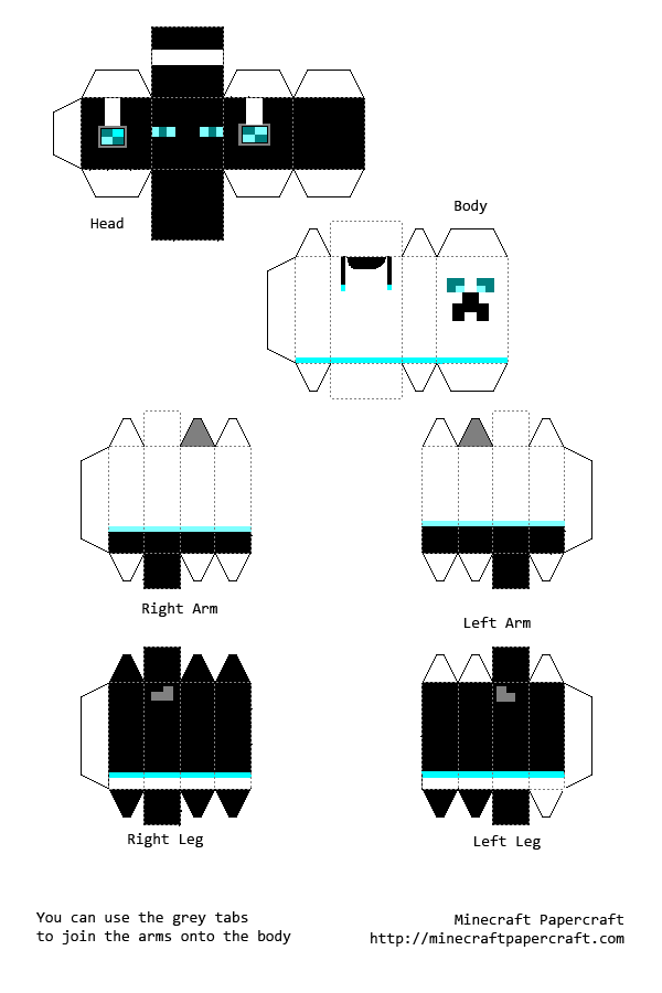 Minecraft Paper Crafts Templates  Google Search  Minecraft