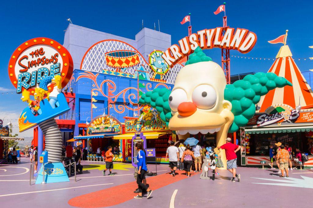 Krustyland Universal Studios Hollywood Park Puzzle In Puzzle Of The Day Jigsaw Universal Studios Orlando Rides Universal Studios Hollywood The Simpsons Theme