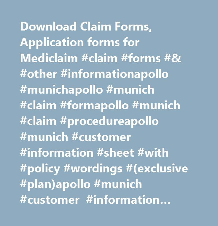Download Claim Forms, Application forms for Mediclaim #claim #forms - application forms