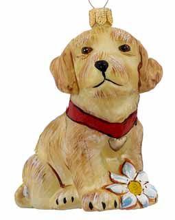 Golden Retriever Puppy Ornament Http Www Doggiechecks Com
